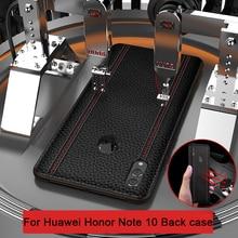 حافظة لهاتف هواوي هونور نوت 10 فاخرة من الجلد الطبيعي غطاء حماية كامل لهاتف هونر نوت 10 حافظة هاتف خلفية نوت 10 فوندا
