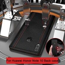 Para huawei honor note 10 caso de luxo couro genuíno moda completa capa protetora honra nota 10 voltar caso do telefone note10 funda