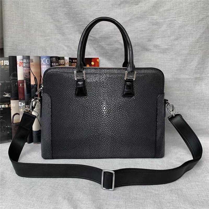 portátil maleta couro genuíno crocodilo masculino bolsa