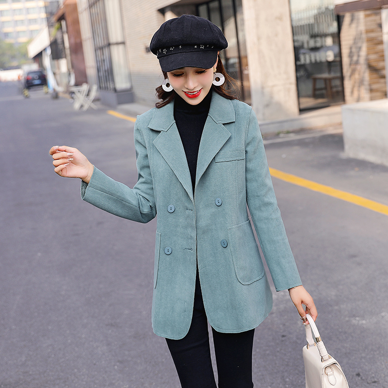 Large Size Stylish Ladies Blazer Solid Pink Loose Casual Suit Jacket Long Sleeve Simple Veste Blazer Korean Women Blazer MM60NXZ