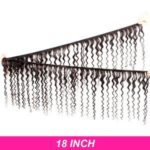 Image 2 - Human Hair Weave Bundles Deep Wave Brazilian Short Natural Color Remy Hair Extension Long for Black Women 3 Bundles 28 inch