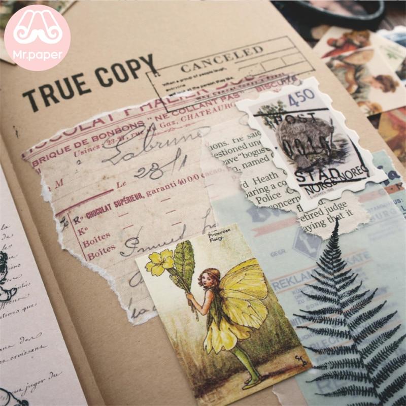 Mr.paper 100pcs/box Vintage Story Kraft Paper Scrapbooking/Card Making/Journaling Project DIY Diary Decoration LOMO Cards 6