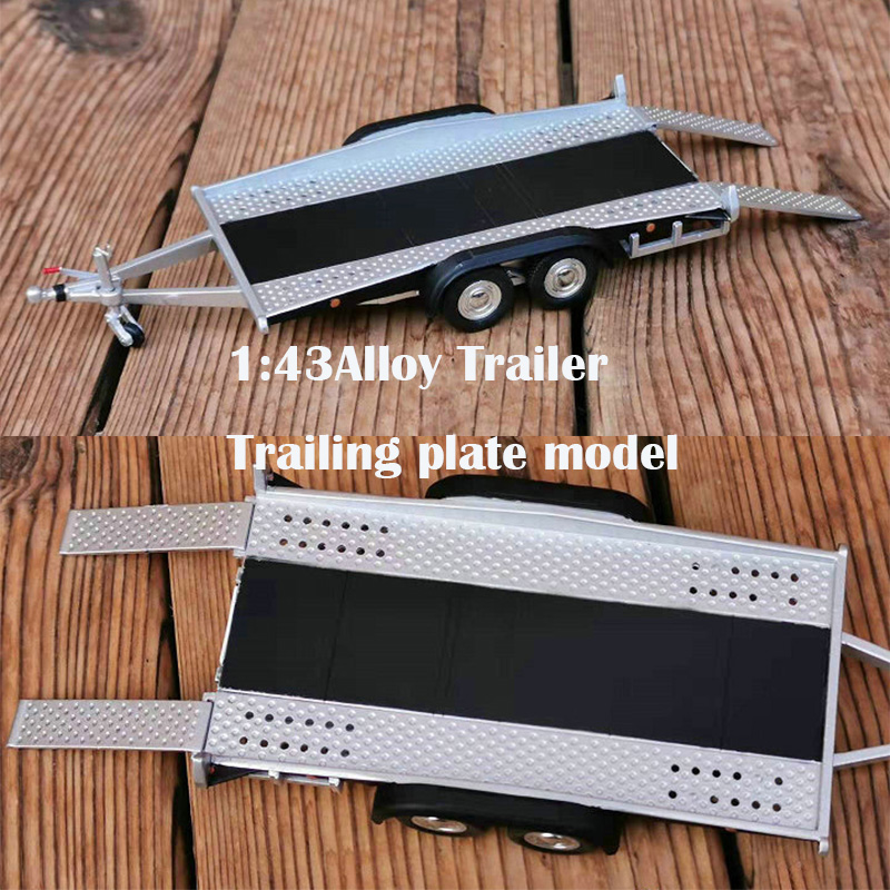 1:43  Alloy Trailer  Trailing Plate Model  Scene With Car Model