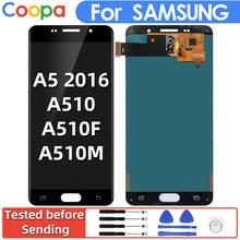 Сменный ЖК-дисплей для Samsung Galaxy A5 2016 A510, 5,2 дюйма, сенсорный экран с цифровым преобразователем в сборе
