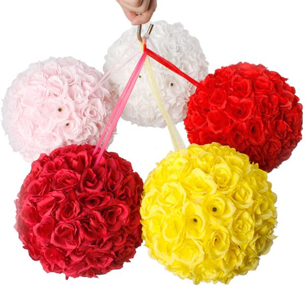 10Pcs 25CM Flower Balls Artificial Flowers Wedding Decoration Valentine's Day Wedding Party Home Office Cafe decoration Crafts - 6