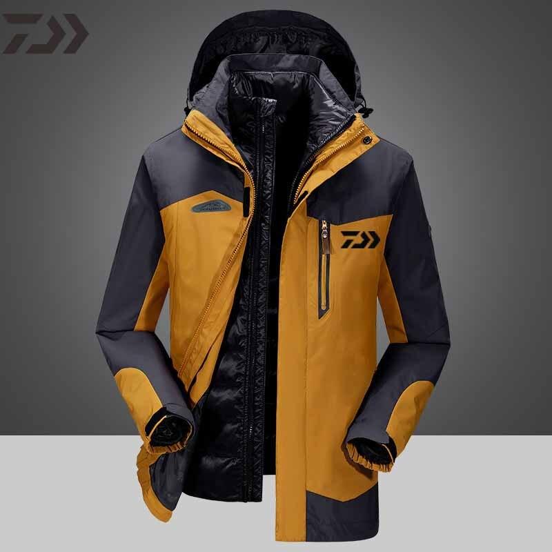 daiwa roupas jaqueta de pesca inverno dos homens roupas de pesca no gelo a prova dwindproof