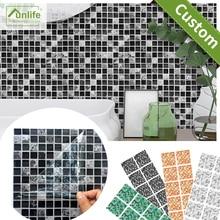 Funlife 10/15/20/25/30CM Imitation Marble Furniture PVC Waterproof Self Adhesive  Kitchen Bathroom Mosaic Tile Sticker Wall Art