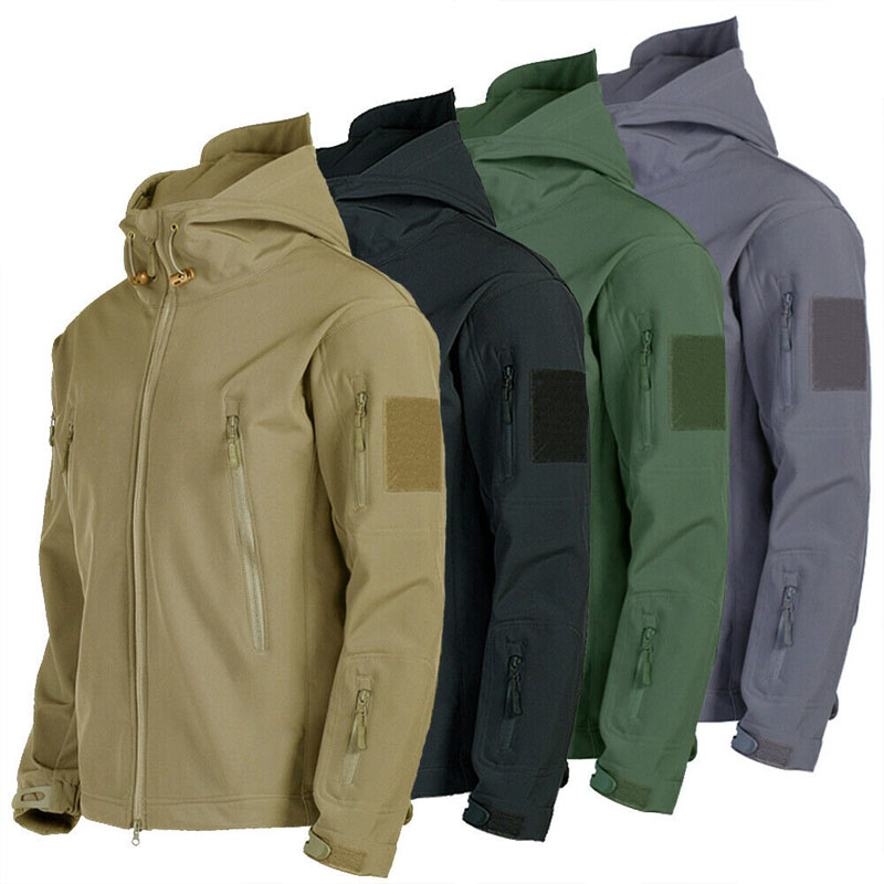 Outdoor Sport Waterproof Tactical Softshell Men Jacket Coat Army Camouflage Hunting Clothes Military Jacket For Camping Hiking