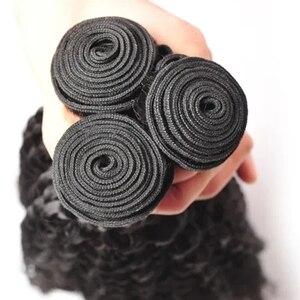 FDX 30 32 34 36 дюймов кудрявые вьющиеся волосы, пряди, бразильские волосы, пряди, человеческие волосы для наращивания, 1/3/4 пряди, Remy волосы, плетен...