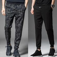 Мужчины осень шнурок толстые теплые брюки камуфляж щиколотка завязки спортивные штаны брюки