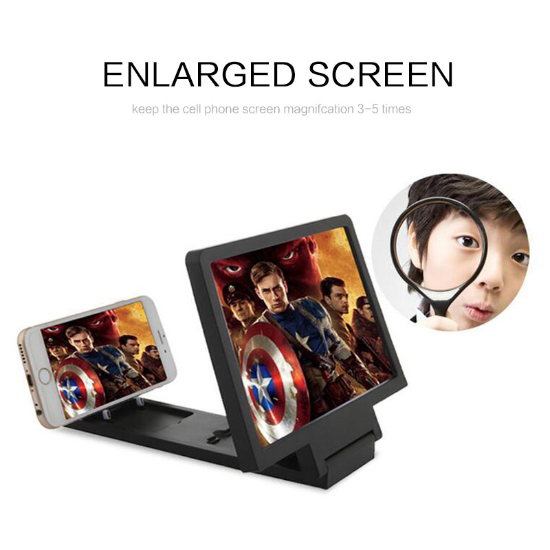 F1 Phone Screen Amplifier Universal Lightweight 3D Movie Screen Enlarge Vivid Magnifier HD Projector Stand Holder For Phone