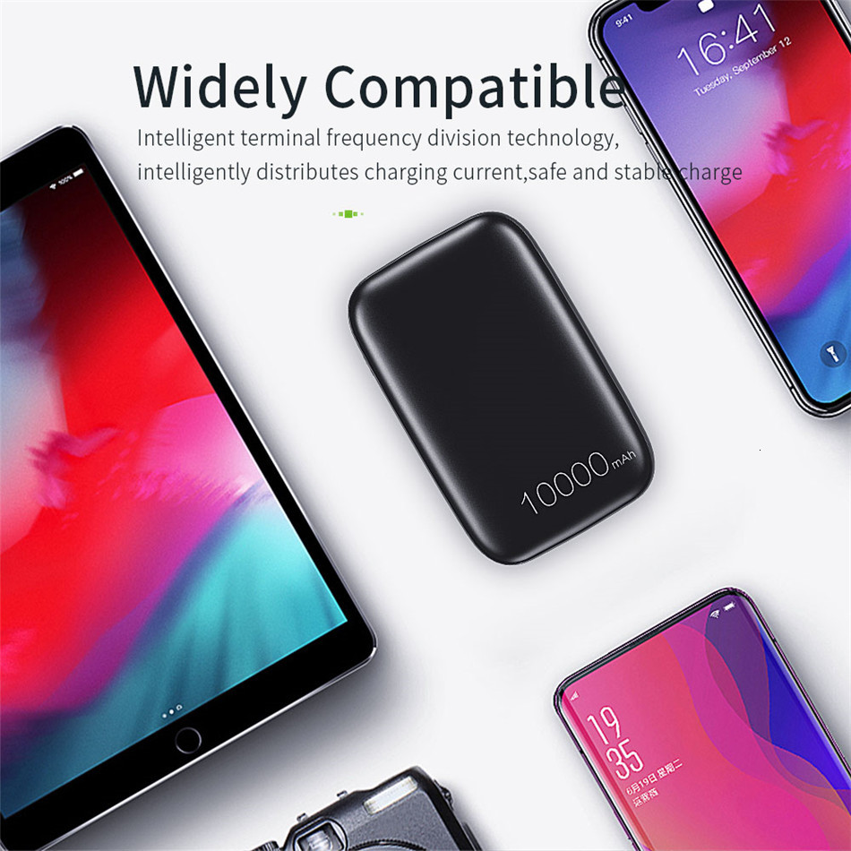 Essager 10000mAh Mini Power Bank 10000 Quick Charge 3.0 Powerbank For iPhone 11 Pro Max USB PD Portable External Battery Charger 10