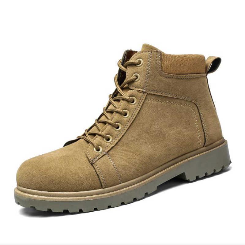 Puimentiua Nam Giày Mùa Đông Giày Anh Xu Hướng Giày Cao Cổ Nam Retro Giày Triều Công Cụ Dụng Cụ Thời Trang Nam Tuyết Giày công Việc