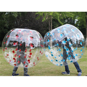 Kids Outdoor Toys Adult Inflatable Air Bumper Ball PVC Thick Transparent Body Zorb Ball TPU High Elasticity Air Bubble Soccer