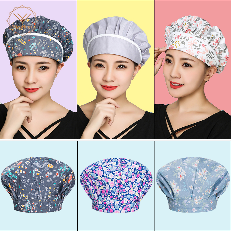 Chef Hat Men Women Kitchen Baker Cafe Bar Restaurant Hotel Bakery Chef Uniform Waiter Work Hats Breathable Workshop Dust Caps