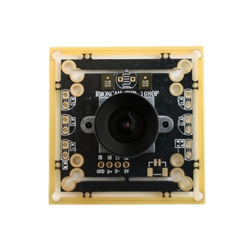 Usb Camera 1080p / 60 Frames 120 Degree Wide Angle Undistorted UVC Camera 850nm Infrared Night Vision