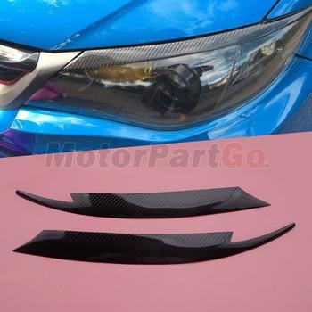Real Crabon Fiber Head light Eyelid Eyebrow Cover Trim 1pair for  Subaru Impreza WRX STi X 10th GRB 08-2010 T218 1