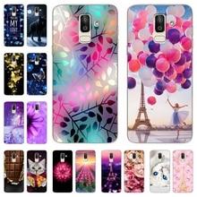 купить For Samsung Galaxy J8 2018 Case Soft Silicone Priting Pattern Phone Cover Cases for Samsung J 8 2018 810 F SM-J810F Fundas Coque недорого
