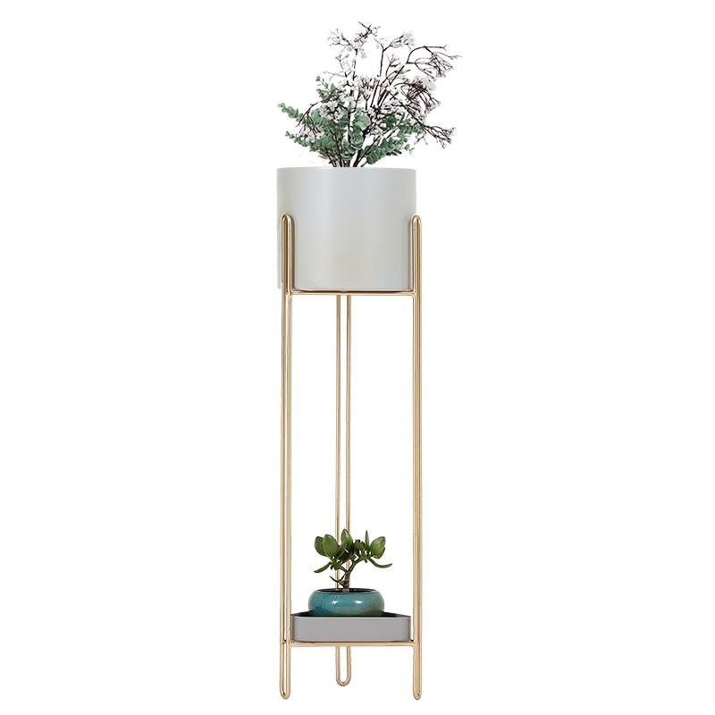 Nordic Flower Rack Living Room Indoor Balcony Shelf Simplicity Flower Stand Metal Stand For Plants Garden Furniture