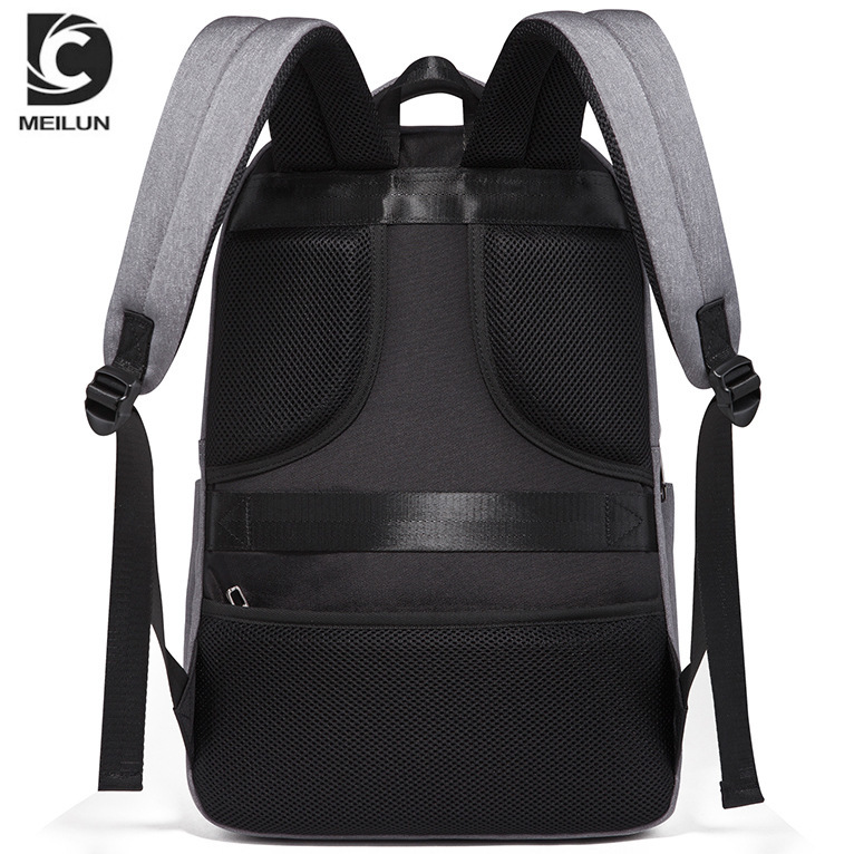 Man Both Shoulders Package Male More Function Leisure Time Computer Package Concise College Student Usb Waterproof Backpack