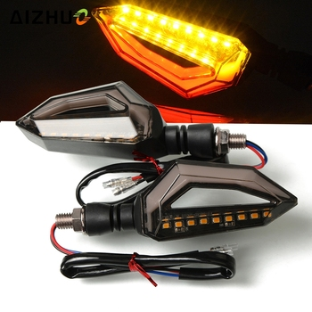 Turn Signal Motorcycle Lights 12V Led Flasher Front Rear Tail Light FOR HONDA CR125R CR250R CR 125 250 R NC30 VFR 750 800 1200 image