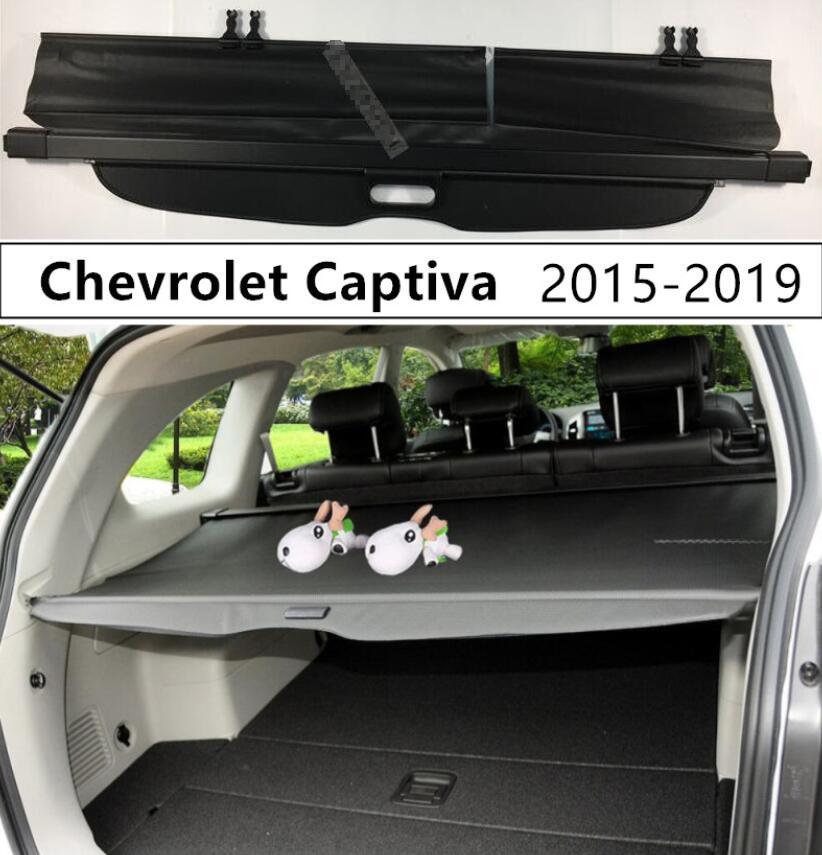 For Car Rear Trunk Security Shield Cargo Cover For Chevrolet Captiva 2015 2016 2017 2018 High Qualit Black Beige Auto Accessorie