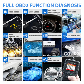 LAUNCH X431 CR3001 Car Full OBD2 /EOBD Code Reader Scanner Automotive Professional OBDII Diagnostic Tools Free Update pk ELM327 2
