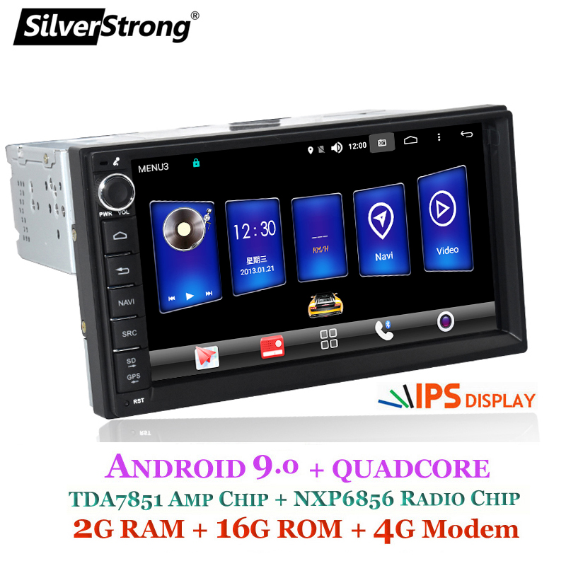 SilverStrong 2Din 4G Modem Universal 7inch Android9.0 Car Radio DVD for LADA GRANTA 1Din Body With Android GPS Navigation image
