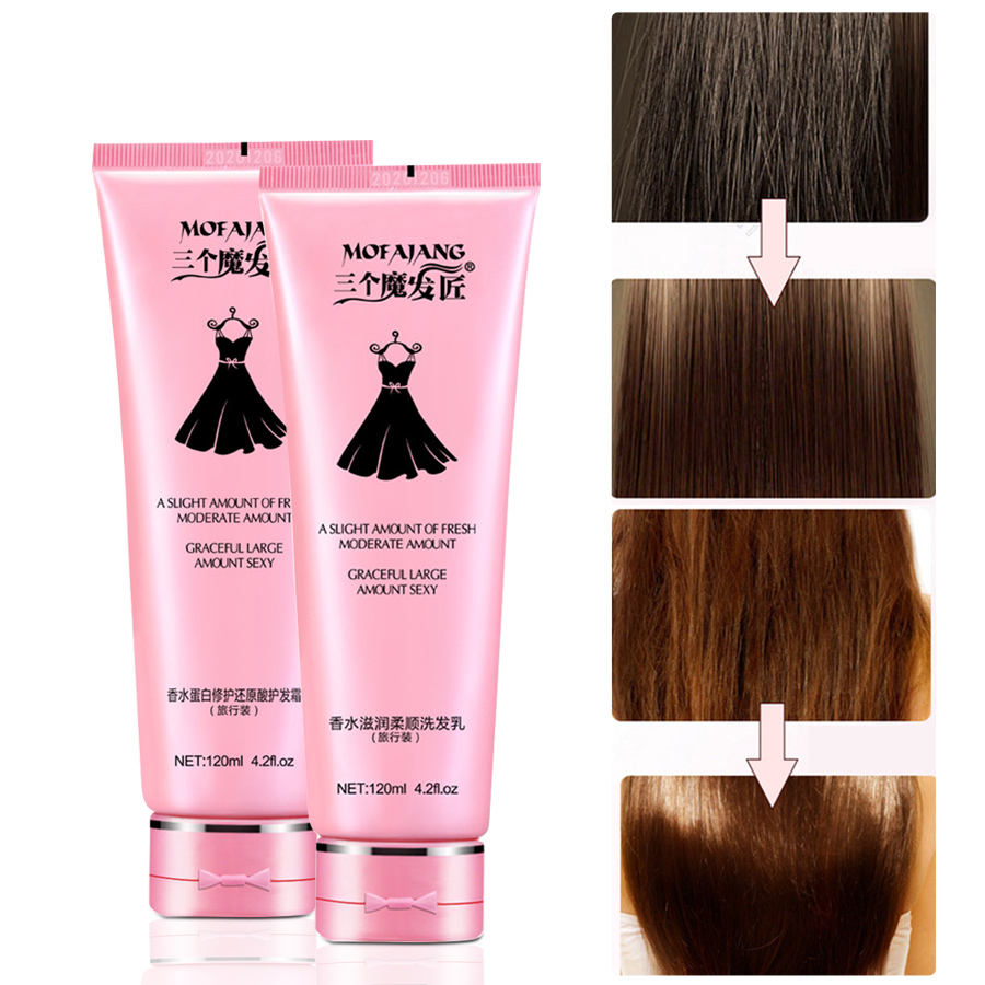 120ml Straight Shampoo Hair Conditioners Nourishing Helps To Soft And Shiny Hair Curly And Straight Hair Care Shampoos Aliexpress
