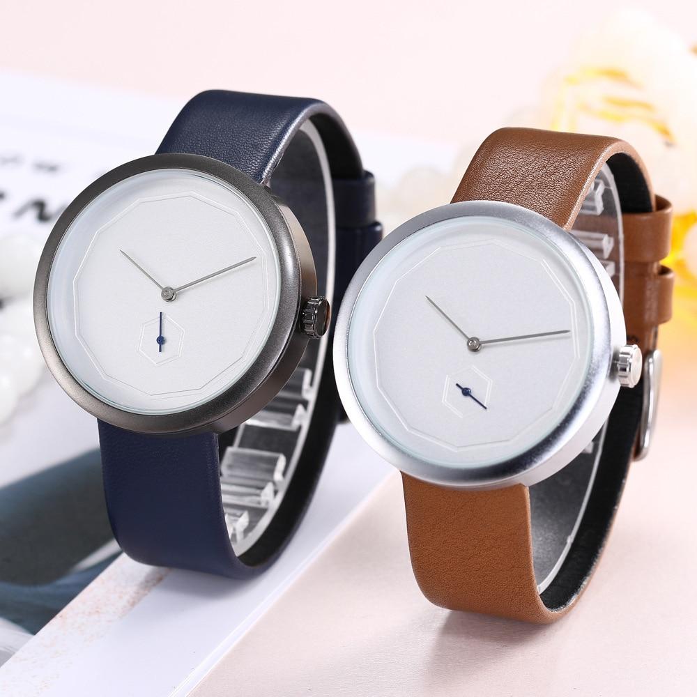 Couple Watch Gifts For Men Leather Band Fashion Quartz Wristwatch Trending  Minimalist Watch  Reloj Mujer  Women's Watches