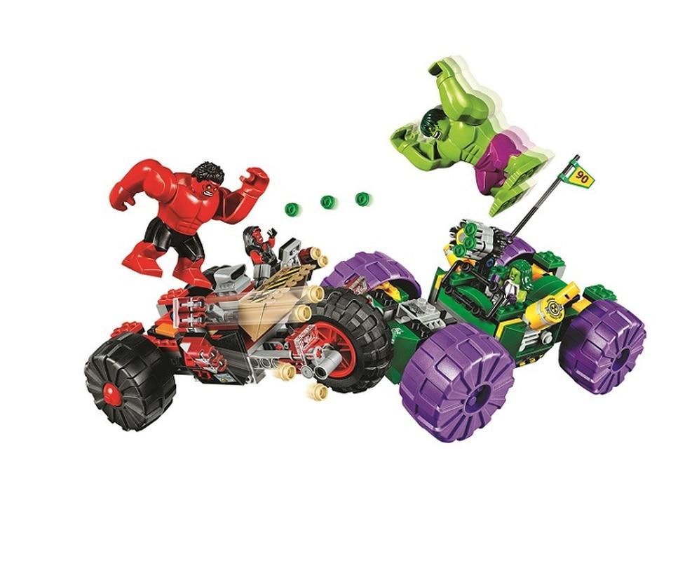 2019 New 10675 387pcs Marvel Super Hero Hulk Vs Red Hulk Team Vehicle Bela Building Block Compatible Legoingly 76078 Brick Toy