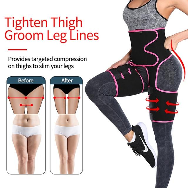 Neoprene Sweat Slim Thigh Trimmer Waist Trainer Leg Shapers Slender Slimming Belt Shapewear Muscles Band Weight Loss Body Shaper 4