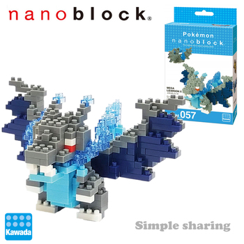 NanoBlock Pokemon NBPM-057 Mega Charizard X Kawada 200 Pcs Anime Diamond Mini Building Blocks Creative Toys For Boy 1