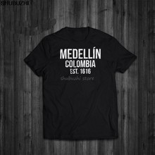 Shubuzhi Hot Koop Super Fashion Zomer Grappige Print T-Shirts Narcos Medellin Est 1616 Pablo Escobar movie Tee Shirt sbz1267(China)