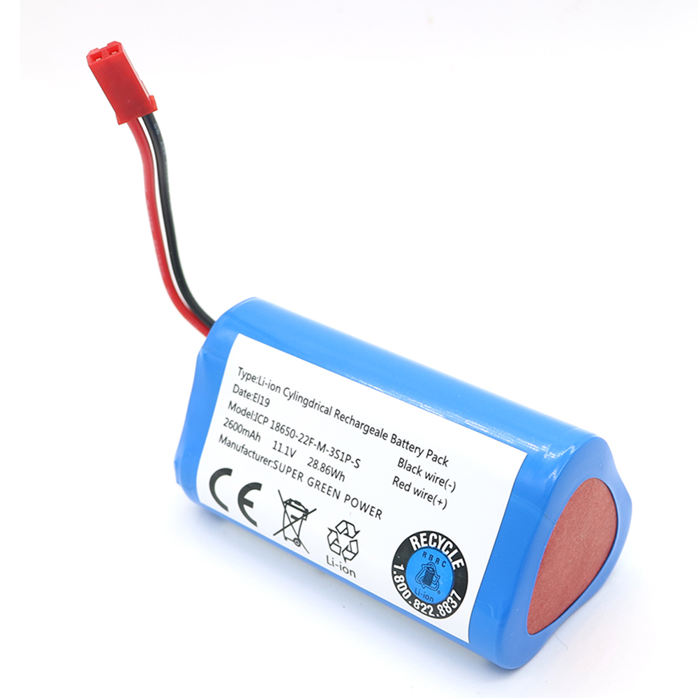 11.1V 2600mAh Li-ion Battery For ILIFE Ecovacs Replacement Parts For Chuwi Ilife X3 V3 V5 V5PRO V5S CW310 V7 Ecovacs CEN250