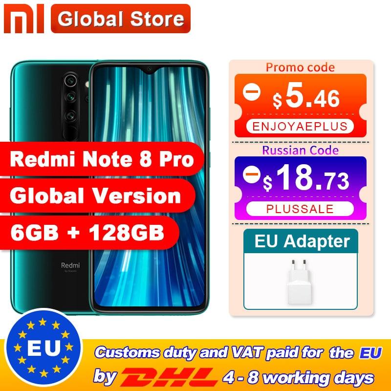 Global Version Xiaomi Redmi Note 8 Pro 6GB 128GB Mobile Phone 64MP Quad Camera MTK Helio G90T Smartphone 4500 NFC(China)