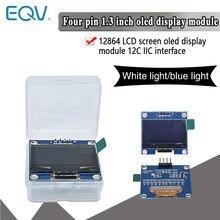 1.3 polegada oled iic série branco azul oled módulo de exibição 128x64 i2c ssd1306 12864 placa da tela lcd vdd gnd sck sda para arduino