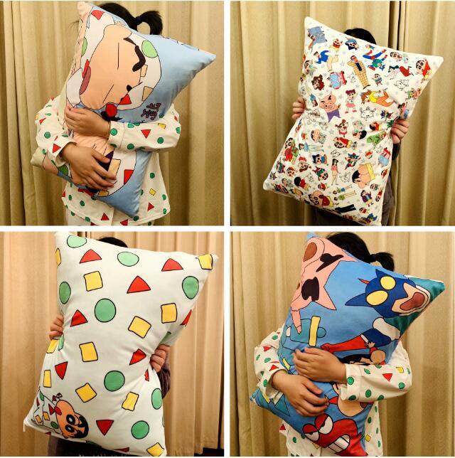 Cute Plush Toy Cartoon Crayon Shin Chan Nohara Himawari Soft Pillowcase Birthday Christmas Gift #2170