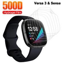 Полная защита экрана для Fitbit Versa 3 & Sense мягкая Гидрогелевая Защитная пленка для Fitbit Inspire 2 часов (не стекло