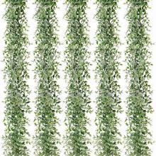 5 Packs 30Ft Kunstmatige Eucalyptus Slingers Fake Greenery Wijnstokken Faux Opknoping Planten Voor Wedding Tafel Achtergrond Arch