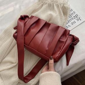 Image 3 - 2020 Fold Cloud Totes Bags for Women Underarm Bag PU Leather Womens Handbags Evening Clutch Purses Lady Dumplings Handbags New