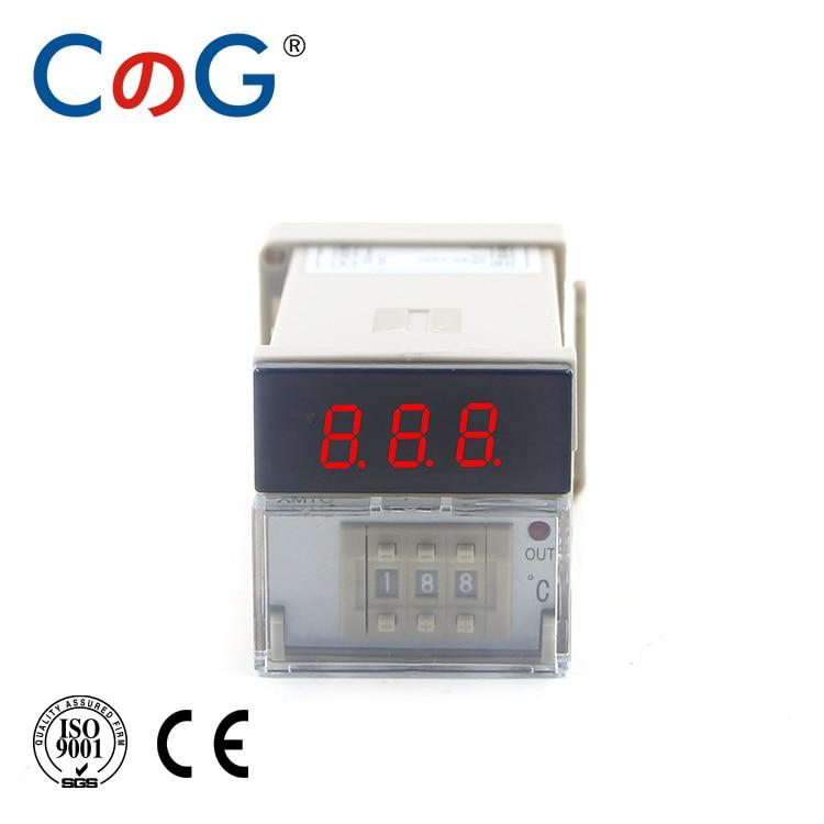 CG XMTG K J E PT100 Input 0-399 Degree AC 220V Relay Output Digital Display Dial Code Thermostat Temperature Controller