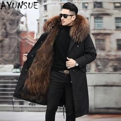 AYUNSUE Fox Fur Coat Men Jacket 2020 Men's Clothing Winter Clothes Mens Thick Parkas Hooded Jackets Chaqueta Hombre LXR588