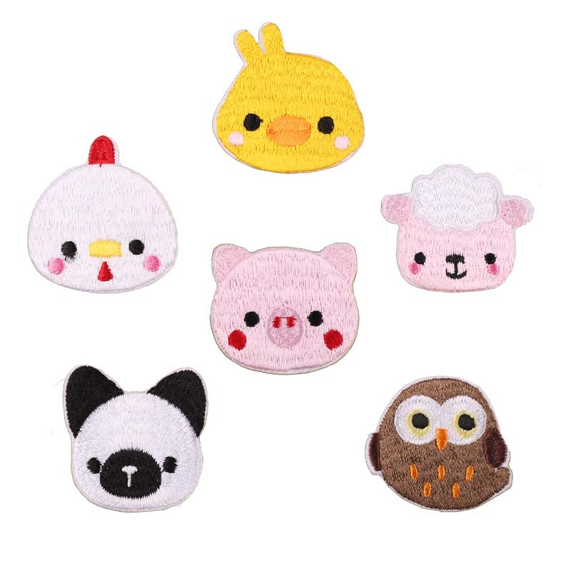 Embroidery Patch Cloth Stickers Computer Embroidery Chapter Cartoon Cute Owl Small Animal Clothes Decoration Patch Stickers