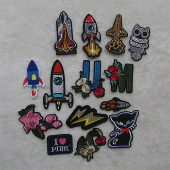 new Mixed cartoon Patches For Clothing Iron On Embroidered Appliques DIY Apparel Accessories Patches