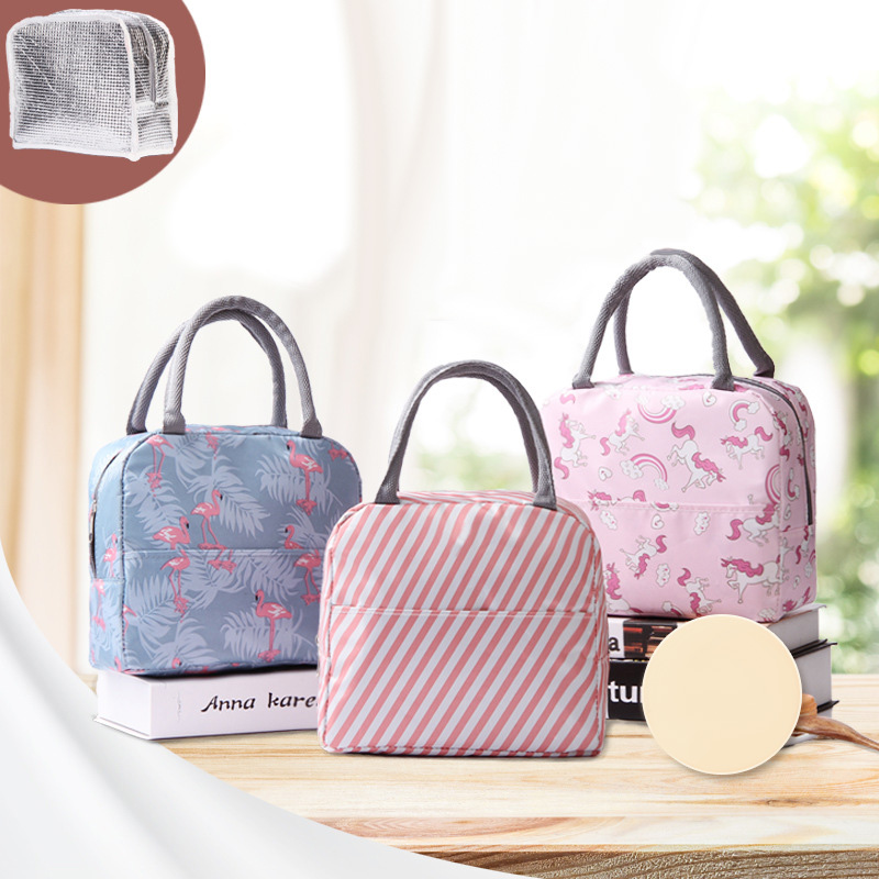 Image 5 - New Japanese Fresh Student with Meal Insert Bag Section  Insulation Lunch Bag Japanese style Portable Insulation Lunch BagBags