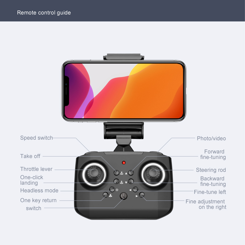JINHENG New Mini Drone XT6 4K 1080P HD Camera WiFi Fpv Air Pressure Altitude Hold Foldable Quadcopter RC Drone Kid Toy GIft 4