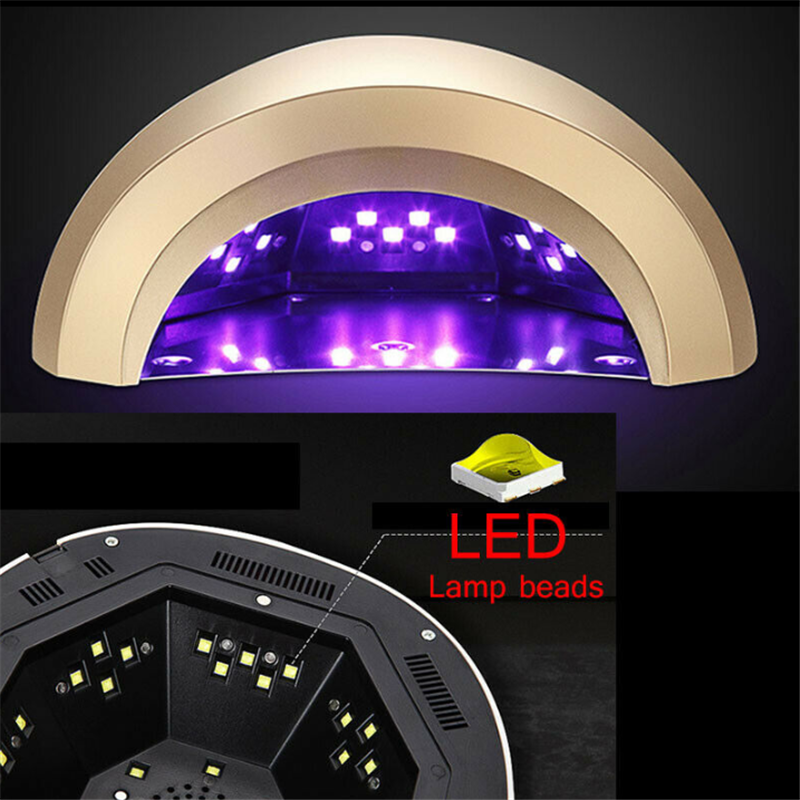 48W LED UV lampa susząca do paznokci automatyczny czujnik suszarka do paznokci lampa UV Pro US/ue wtyczka narzędzia do Manicure