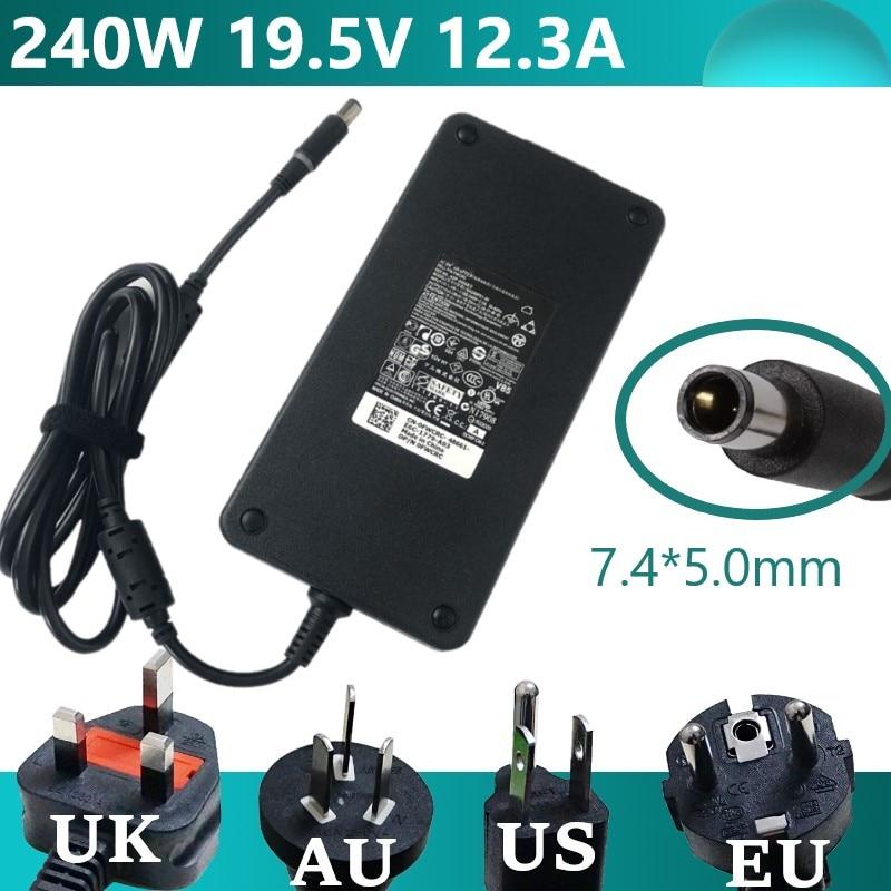 Блок питания для ноутбука 240 Вт, 19,5 в, 7,4 А, 5,0 * мм, 8-контактный адаптер для ноутбука Dell alienware M6700 M4700 M6400 M6500 M6600 M15x, зарядное устройство