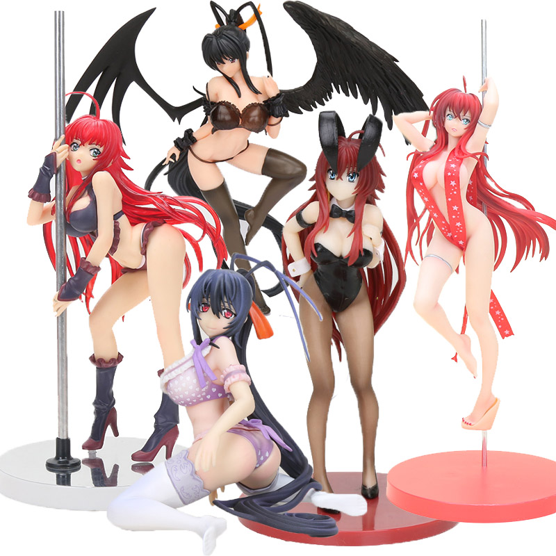 Anime High School DxD Action Figure Bunny Girls Rias Gremory Himejima Akeno Swimwear Ver. 1/12 Scale PVC Figure Model Toy